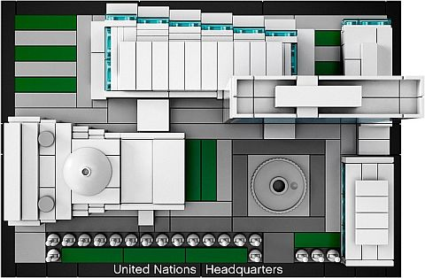 #21018 LEGO Architecture United Nations Headquarters Overview