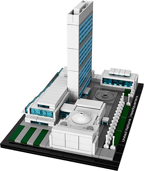 #21018 LEGO Architecture United Nations Headquarters Side View