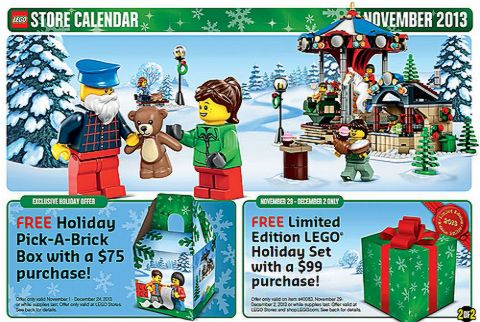 Christmas LEGO Shopping Store Calendar