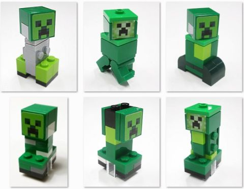 LEGO Minecraft Creeper Concepts