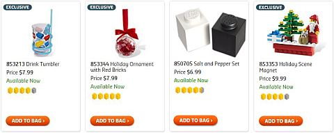 Shop for LEGO Christmas Sets Under $10