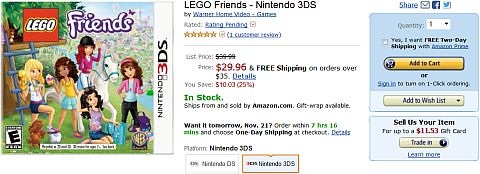 Shop for LEGO Friends Video Game on Amazon