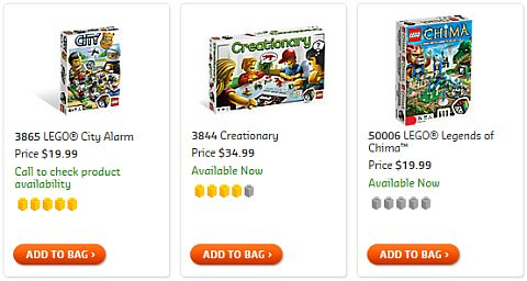 Shop for LEGO Games