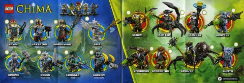 2014 LEGO Legends of Chima Animal Tribes