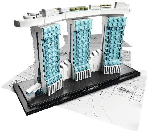#21021 LEGO Architecture Marina Bay Sands Details