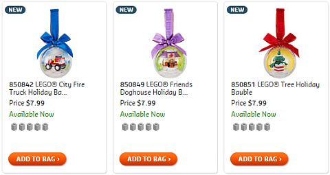 LEGO Christmas Holiday Ornaments