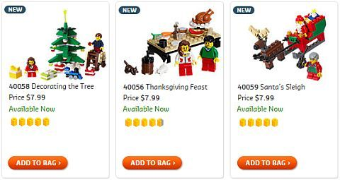 LEGO Christmas Small Sets