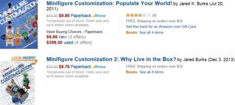 LEGO Customization Book on Amazon