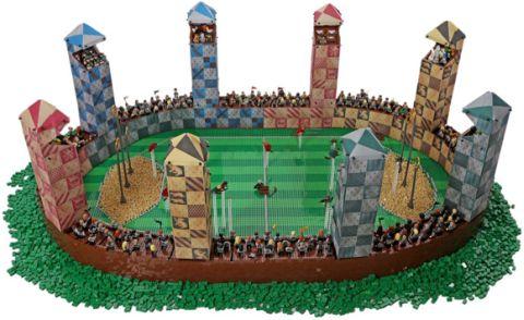 LEGO Hogwarts Quidditch PItch by Alice Finch