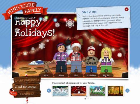 LEGO Holiday Card App