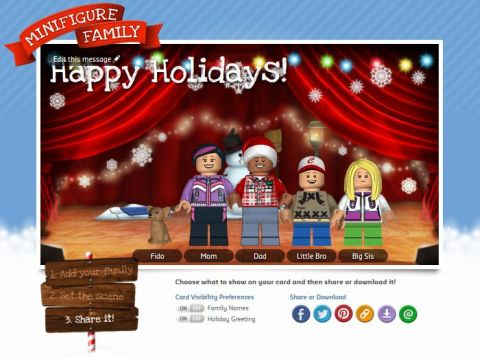 LEGO Holiday Card Share It