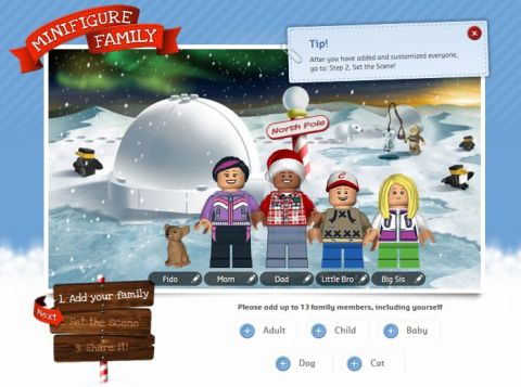 LEGO Holiday Greeting Card Family