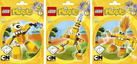 LEGO Mixels Yellow Group
