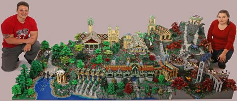 LEGO Rivendell by Alice Finch