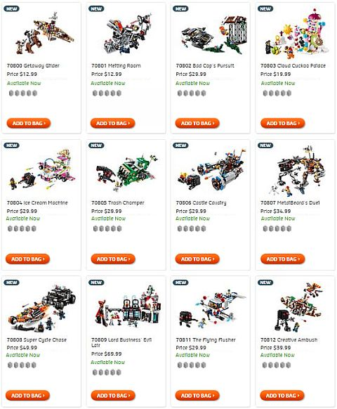 Shop The LEGO Movie Sets