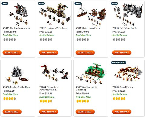 Shop for LEGO The Hobbit Sets