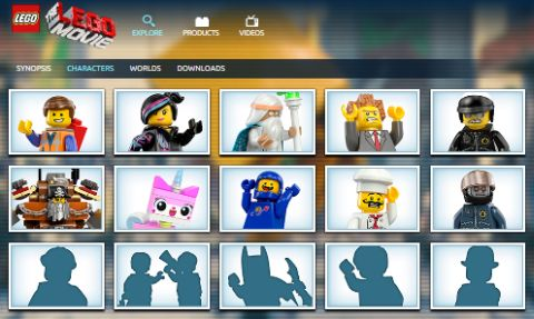 The LEGO Movie Website Characters