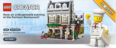 2014 LEGO Sets Parisian Restaurant