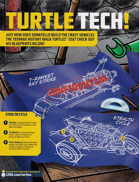 2014 LEGO TMNT T-Rawket Sky Strike