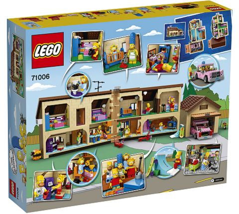 #71006 LEGO The Simpsons House Box Details