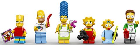 #71006 LEGO The Simpsons House Minifigs