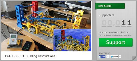 Great LEGO Ball Contraption on CUUSOO
