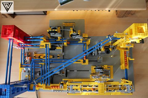 LEGO Great Ball Contraption from Above