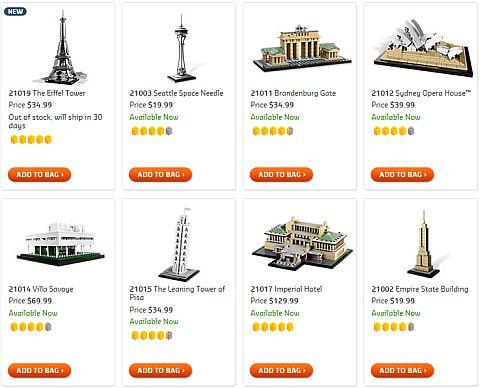 Shop LEGO Architecture Sets