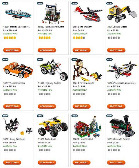 Shop LEGO Creator Sets