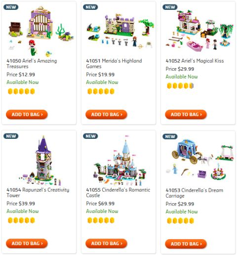Shop LEGO Disney Princess Sets
