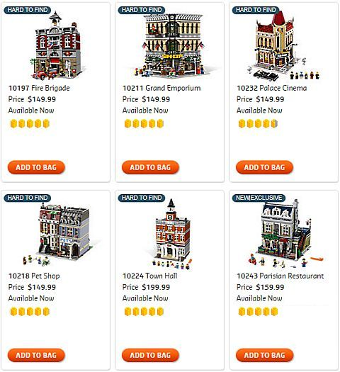 Shop for LEGO Modular Buildings