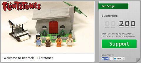 Vote for LEGO Flintstones Project