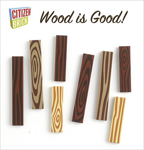 Wood-Grain LEGO Tiles by CitizenBrick