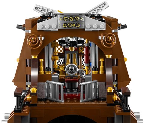 #70810 LEGO MetalBeard's Pirate Ship Back