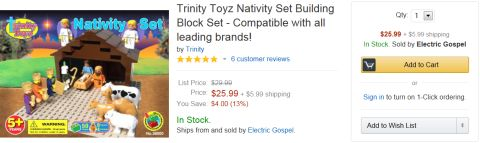 LEGO Nativity Set on Amazon