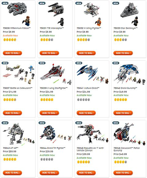 Shop For LEGO Star Wars Sets