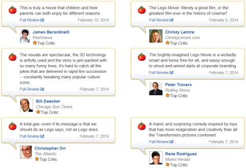 The LEGO Movie Reviews
