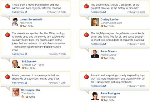 The LEGO Movie Reviews