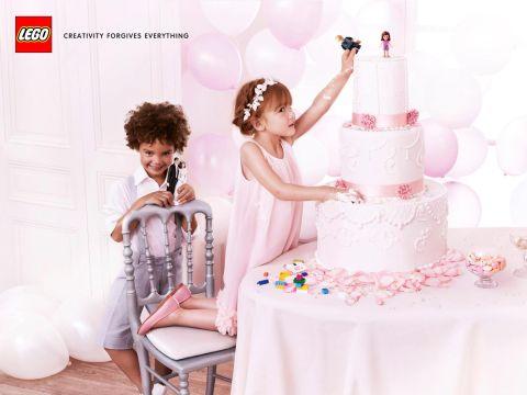 LEGO Creativity Forgives Everything Cake