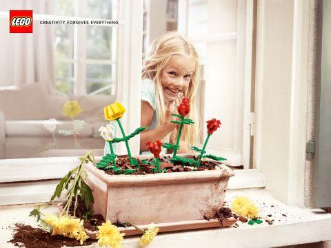 LEGO Creativity Forgives Everything Flowers
