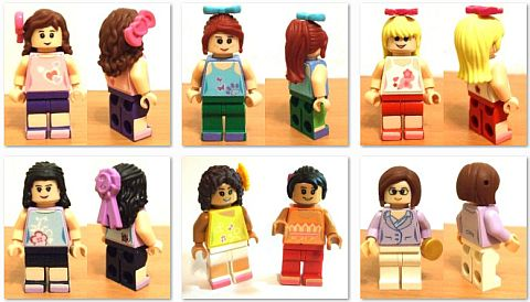 LEGO Friends Minifigs by Dorayakiameri
