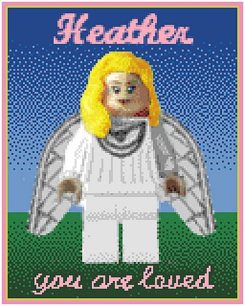 LEGO Memorial Mosaic for Heather Braaten