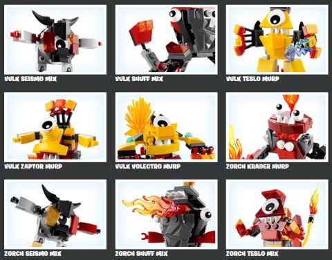 LEGO Mixels Combiner Models