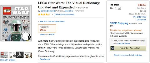 LEGO Star Wars The Visual Dictionary at Amazon