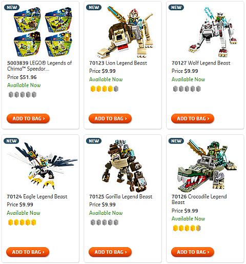 Shop LEGO Chima Legend Beasts