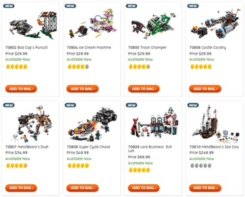 Shop LEGO Movie Sets
