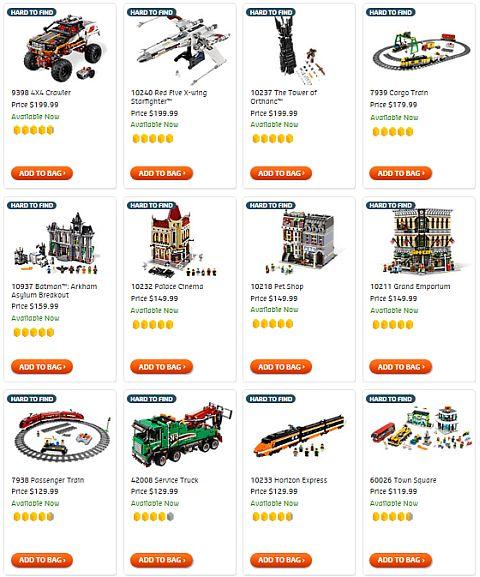 Shop for Hard to Find LEGO Sets