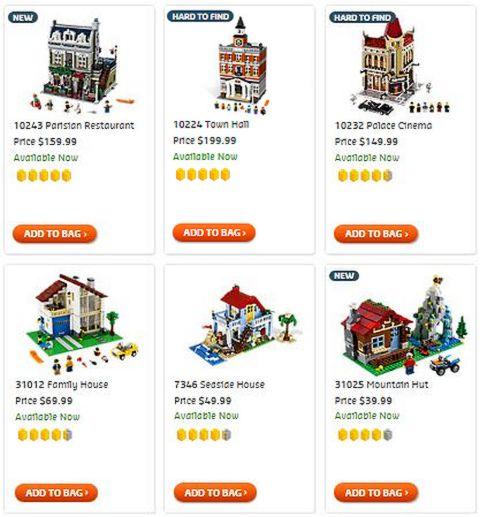 Shop LEGO Creator Buildings