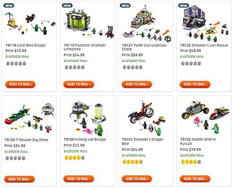Shop LEGO Teenage Mutant Ninja Turtles