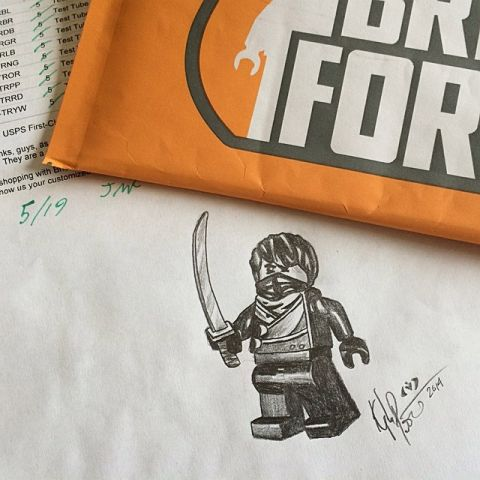 BrickForge Custom LEGO Ninja Drawing by Armothe